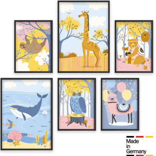 Kinderzimmer Poster Set